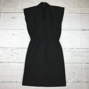 Talbots sleeveless v-neck A-line midi dress E34